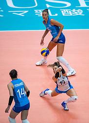 03-10-2018 NED: World Championship Volleyball Women day 5, Yokohama<br /> Argentina - Netherlands 0-3 / Morena Martinez Franchi #19 of Argentina