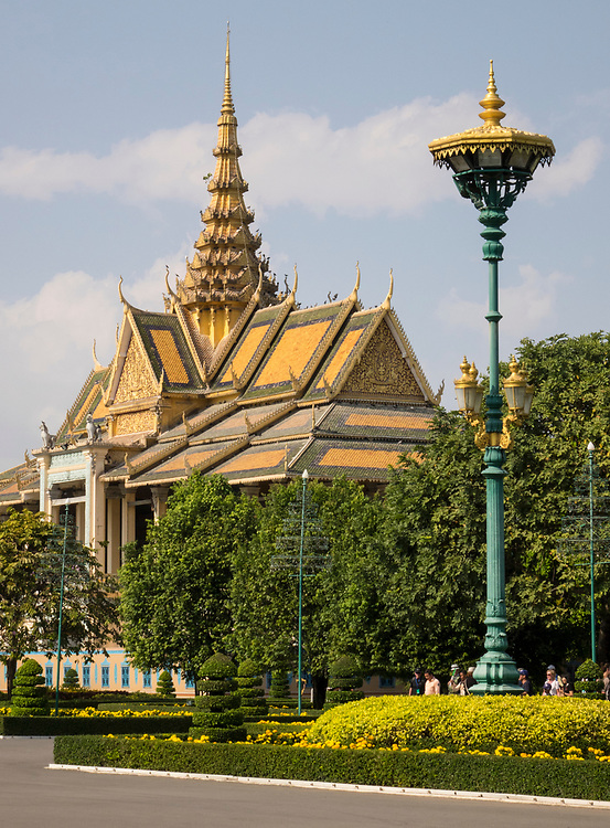 The Throne Hall, Royal Palace complex, Phnom Penh, Cambodia<br /> The Royal Palace is a complex of buildings which serves as the royal residence of the king of Cambodia.