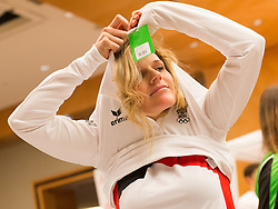 28.01.2014,  Marriott, Wien, AUT, Sochi 2014, Einkleidung OeOC, im Bild Marlies Schild (Ski Alpin, AUT) // Marlies Schild (Ski Alpine, AUT) during the outfitting of the Austrian National Olympic Committee for Sochi 2014 at the  Marriott in Vienna, Austria on 2014/01/28. EXPA Pictures © 2014, PhotoCredit: EXPA/ JFK