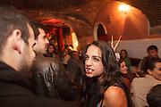 """Burlesque show at """"Velha Senhora"""" bar in Lisbon Cais dos Sodré district at Rua Nova do Carvalho."""