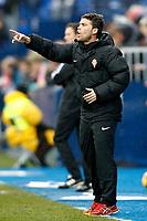Sporting de Gijon's coach Joan Francesc Ferrer Rubi during La Liga match. February 12,2017. (ALTERPHOTOS/Acero)