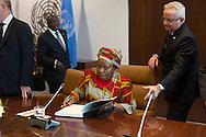 United Nations Secretary General Ban Ki-moon, with H.E. Dr. Nkosazana Dlamini Zuma, Chairperson, of the African Union.