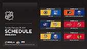 February 28, 2021 (USA): NHL Hockey On NBC Sports