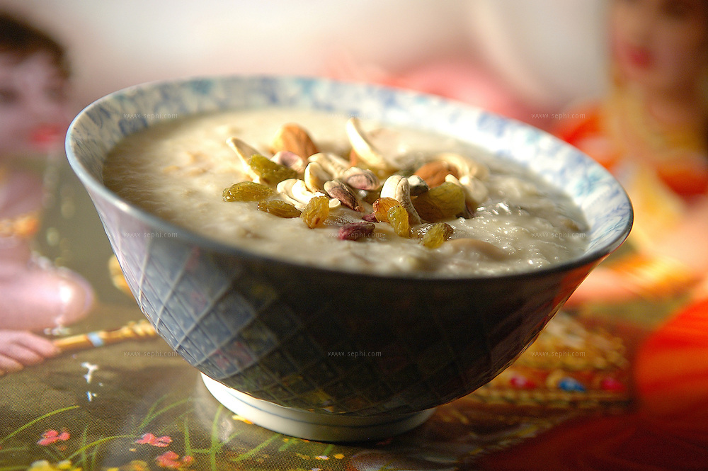Kheer - Rice cooked in milk with dry fruit ( Recipe available upon request )