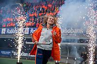 Den Bosch - Rabo fandag 2019 . hockey clinics met de spelers van het Nederlandse team. opkomst van international Xan de Waard (Ned) .   COPYRIGHT KOEN SUYK