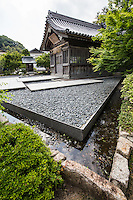 Modern Stone Garden at Dazaifu Tenmangu Shrine  - Dazaifu Tenmangu Shrine was built in memory of Michizane Sugawara and the the God of literature or calligraphy.  Sugawara endured a life of hardship in exile at Dazaifu, yet continued his studies.