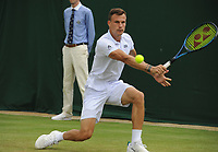 Lawn Tennis - 2021 All England Championships - Week Two - Monday - Wimbledon<br /> Mens singles - Marton Fucsovics v Andrey Rublev<br /> <br /> Marton Fucsovics of Germany<br /> <br /> Credit : COLORSPORT/Andrew Cowie