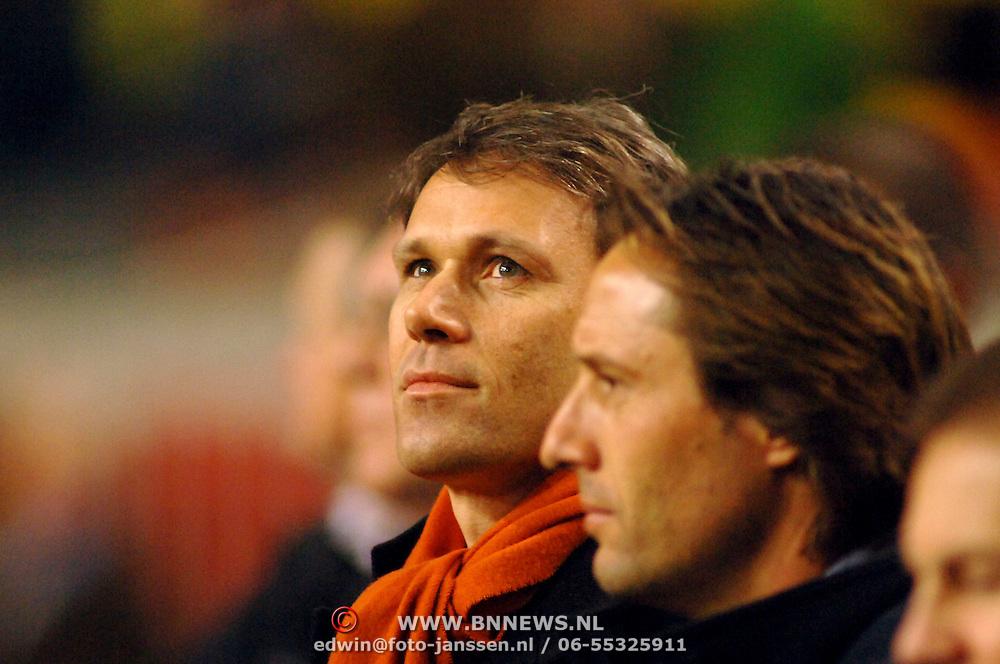 NLD/Amsterdam/20060301 - Voetbal, oefenwedstrijd Nederland - Ecuador, Marco van Basten