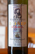 Marko Marco Polo Posip Cara Vrhunsko Vin 2003 Tara Winery Toreta Vinarija Winery in Smokvica village on Korcula island. Vinarija Toreta Winery, Smokvica town. Peljesac peninsula. Dalmatian Coast, Croatia, Europe.