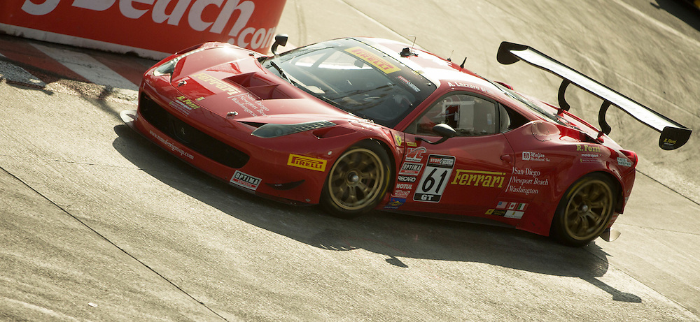 Anthony Lazzaro turn 11 Pirelli World Challange LBGP 2014 Ferrari 458 GT3