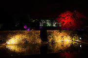 Section of teh illuminated gardens at Hestercombe, Cheddon Fitzpaine, Somerset, England, with Hestercombe House in the background. Part of the Illumina project by Ulf Pedersen.