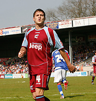 Photo: Steve Bond.<br />Scunthorpe United v Carlisle United. Coca Cola League 1. 05/05/2007. Billy sharp acknowledges the Carlisle fans