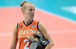 28-09-2014 ITA: World Championship Volleyball Mexico - Nederland, Verona<br /> Nederland wint met 3-0 van Mexico / Femke Stoltenborg