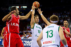 Bostjan Nachbar of Slovenia during  the Preliminary Round - Group B basketball match between National teams of Slovenia and Iran at 2010 FIBA World Championships on September 2, 2010 at Abdi Ipekci Arena in Istanbul, Turkey. (Photo By Vid Ponikvar / Sportida.com)