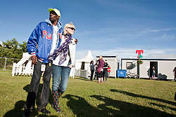 Maxi Jazz and Sister Bliss, of Faithless backstage of Faithless backstage, Friday at T in the Park 2010..Pic ©2010 Michael Schofield. All Rights Reserved.