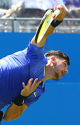 June 20, 2017 - London, United Kingdom - Thomas Kokkinakis  (AUS) agoinst mILOS Raonic (CAN)  during Round One match on the second day of the ATP Aegon Championships at the Queen's Club in west London on June 20, 2017  (Credit Image: © Kieran Galvin/NurPhoto via ZUMA Press)