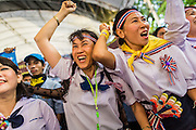 01 SEPTEMBER 2013 - BANGKOK, THAILAND: People dance to Thai country music at a Siam Pitak anti-government rally. Siam Pitak is one of several groups organized around opposition to the government of Yingluck Shinawatra, the Prime Minister of Thailand and brother of deposed and exiled former Prime Minister Thaksin Shinawatra, the brother of Yingluck. The Siam Pitak protest has been ongoing in Lumpini Park for more than a month.      PHOTO BY JACK KURTZ