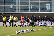 Italy and Israel enter the pitch during the UEFA European Under 17 Championship 2018 match between Israel and Italy at St George's Park National Football Centre, Burton-Upon-Trent, United Kingdom on 10 May 2018. Picture by Mick Haynes.