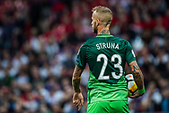 Slovenia (23)Aljaž Struna during the FIFA World Cup Qualifier match between England and Slovenia at Wembley Stadium, London, England on 5 October 2017. Photo by Sebastian Frej.