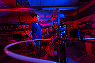 Ken Segall, Professor of Physics, stands in his labratory for a portrait September 24, 2019 in Hamilton, N.Y.