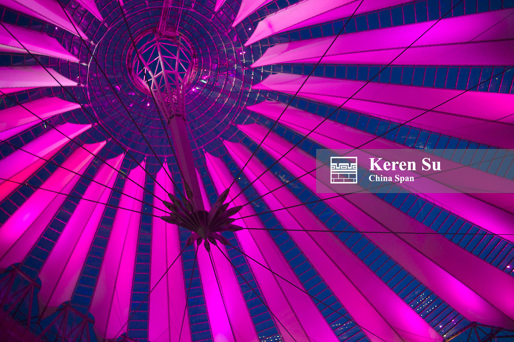 Ceiling of Sony Center, Berlin, Germany