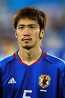 "12/08/04 - THESSALONIKI - GREECE -  - JAPAN OLYMPIC MENS FOOTBALL TEAM -  <br />First match Group B - JAPAN () Vs. PARAGUAY -<br />At the THESSALONIKI ""KAFTATZOGLIO STADIUM"".<br />Min.= '   Japan player N*5 ABE Yuki<br />© Gabriel Piko / Piko-Press"