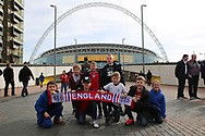 England fans prior to kick off during the FIFA World Cup Qualifier group stage match between England and Lithuania at Wembley Stadium, London, England on 26 March 2017. Photo by Matthew Redman.