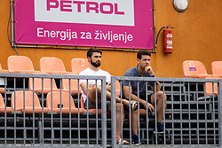 PORTOROZ, SLOVENIA - SEPTEMBER 16: Ziga Pesut and Luka Vidmar at WTA 250 Zavarovalnica Sava Portoroz at SRC Marina, on September 15, 2021 in Portoroz / Portorose, Slovenia. Photo by Matic Klansek Velej / Sportida
