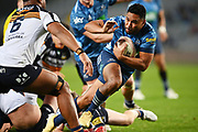TJ Faiane runs in a try.<br /> Blues v Brumbies, Sky Super Rugby Trans-Tasman. Eden Park, Auckland. New Zealand. Saturday 29 May 2021. © Copyright Photo: Andrew Cornaga / www.photosport.nz