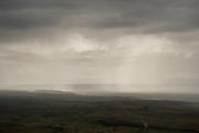 View of a rain storm over the Argentinian Altiplano, Santa Cruz Province.