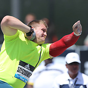Jakub Szyszkowski, Poland, in action in the Men's Shot Put Competition during the Diamond League Adidas Grand Prix at Icahn Stadium, Randall's Island, Manhattan, New York, USA. 13th June 2015. Photo Tim Clayton