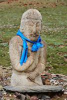 Mongolie, province de Gobi-Altay, région de l'ouest, campement dans la steppe // Mongolia, Gobi-Altay province, western Mongolia, nomad camp in the steppe