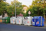 Rome, Italy Garbage separation bins