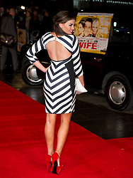 Jessica Wright arrives for the Run For Your Wife - UK film premiere Odeon -Leicester Sq- London Brit comedy about a happily married man - with two wives, Tuesday  February 5, 2013. Photo: Andrew Parsons / i-Images