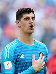 July 14, 2018 - St. Petersburg, Russia - July 14, 2018, St. Petersburg, FIFA World Cup 2018, Football match for the third place in the World Cup. Football match of Belgium - England at the stadium of St. Petersburg. Player of the national team Thibaut Courtois  (Credit Image: © Russian Look via ZUMA Wire)