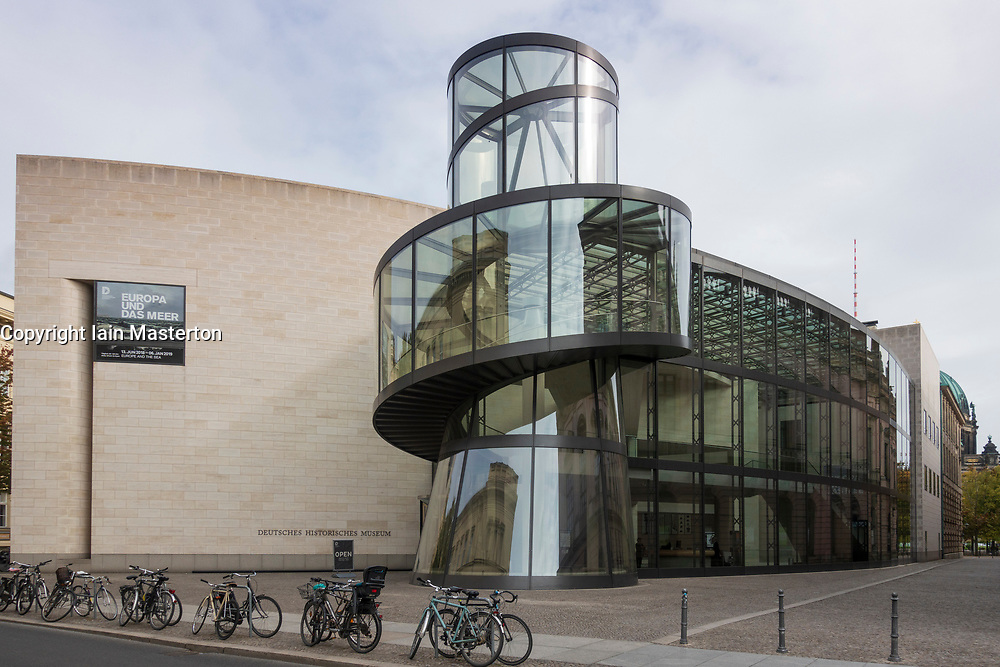 Exterior of the new extension to the German History Museum by architect  IM Pei in Berlin, Germany