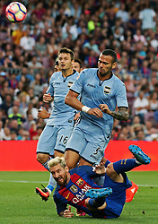 August 10, 2016 - Barcelona, Spain - Leo Messi and Castan Leandro during the match corresponding to the Joan Gamper Trophy, played at the Camp Nou stadiium, on august 10, 2016. (Credit Image: © Joan Valls/NurPhoto via ZUMA Press)