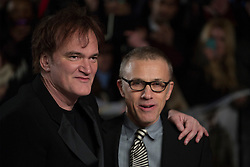 © licensed to London News Pictures. London, UK 10/01/2013. Quentin Tarantino and Christoph Waltz attending the UK premiere of Django Unchained in Leicester Square, London. Photo credit: Tolga Akmen/LNP