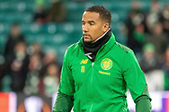 Scott Sinclair (#11) of Celtic warms up ahead of the Europa League match between Celtic and Rennes at Celtic Park, Glasgow, Scotland on 28 November 2019.