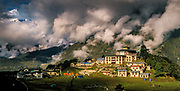 Clearing storm, Thyangboche monastery, Everest region, center of Buddhism for Khumbu Himal, Nepal