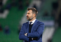 RAZGRAD, BULGARIA - OCTOBER 22: Head Coach Ivan Leko of Antwerp watches his players on the field during the UEFA Europa League Group J stage match between PFC Ludogorets Razgrad and Royal Antwerp at Ludogorets Arena on October 22, 2020 in Razgrad, Bulgaria. (Photo by Nikola Krstic/MB Media)