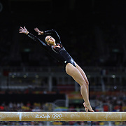 Gymnastics - Olympics: Day 10  Sanne Wevers of The Netherlands performing her routine that won the gold medal in the Women's Balance Beam Final during the Artistic Gymnastics competition at the Rio Olympic Arena on August 15, 2016 in Rio de Janeiro, Brazil. (Photo by Tim Clayton/Corbis via Getty Images)