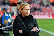 Wales Women's manager Jayne Ludlow during the FIFA Women's World Cup UEFA Qualifier match between England Ladies and Wales Women at the St Mary's Stadium, Southampton, England on 6 April 2018. Picture by Graham Hunt.