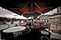 """Inside the french barge """"La Balle au Bond"""", a must of the parisian nights."""