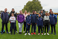 AFC Wimbledon group during the EFL Sky Bet League 1 match between AFC Wimbledon and Rochdale at the Cherry Red Records Stadium, Kingston, England on 5 October 2019.