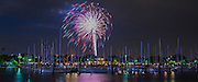 Fireworks explode over the marina in downtown St. Pete on July 4th, 2012.