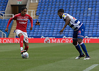Middlesbrough's Djed Spence (left) under pressure from Reading's Tyler Blackett (right) <br /> <br /> Photographer David Horton/CameraSport<br /> <br /> The EFL Sky Bet Championship - Reading v Middlesbrough - Tuesday July 14th 2020 - Madejski Stadium - Reading<br /> <br /> World Copyright © 2020 CameraSport. All rights reserved. 43 Linden Ave. Countesthorpe. Leicester. England. LE8 5PG - Tel: +44 (0) 116 277 4147 - admin@camerasport.com - www.camerasport.com