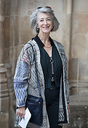 © Licensed to London News Pictures. 27/09/2016.  Maureen Lipman arrives for a Service of Thanksgiving for the Life and Work of Sir Terry Wogan at Westminster Abbey. Veteran broadcaster Sir Terry Wogan died in January 2016. The Irish star had a long and successful career at the BBC, including stints on  radio and TV. London, UK. Photo credit: Peter Macdiarmid/LNP