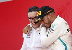 May 13, 2018 - Barcelona, Spain - Motorsports: FIA Formula One World Championship 2018, Grand Prix of Spain, ..Peter Bonnington, #44 Lewis Hamilton (GBR, Mercedes AMG Petronas Motorsport) (Credit Image: © Hoch Zwei via ZUMA Wire)