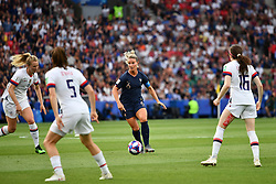 June 28, 2019 - Paris, ile de france, France - Amandine HENRY (Capitain) in action during the first period of the quarter-final between FRANCE vs USA in the 2019 women's football World cup at Parc des Princes in Paris, on the 28 June 2019. (Credit Image: © Julien Mattia/NurPhoto via ZUMA Press)